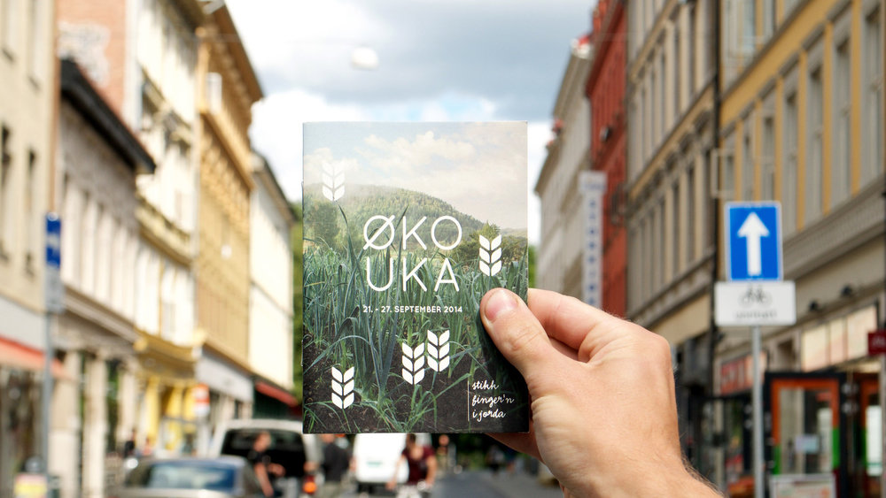Graphical design by Growlab for Økouka, the Norwegian Ecological Festival.