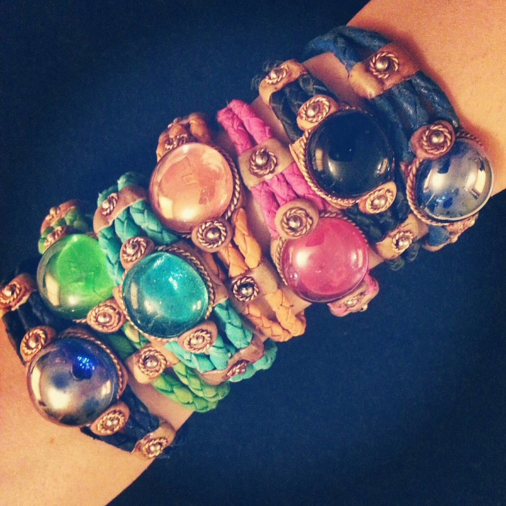 "Leather ""Candy"" Bracelets"