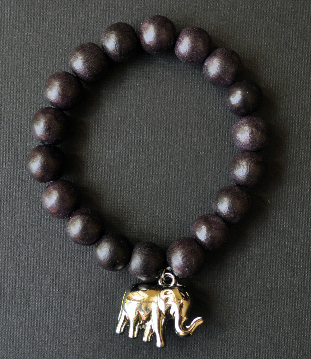 Wood Beads with Pewter Elephant 2.jpg
