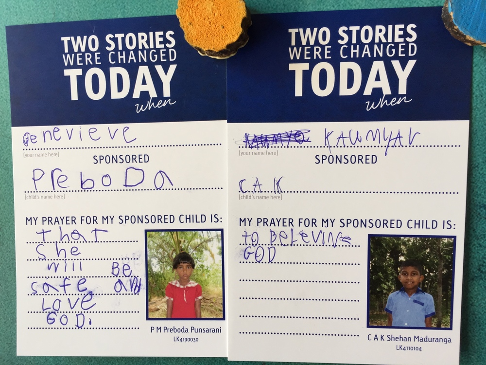 Prayers for sponsored children