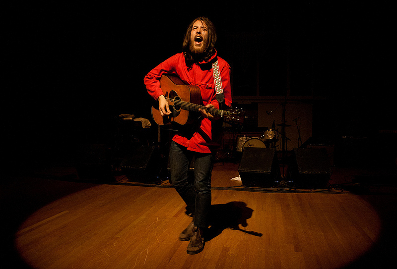 Robin Pecknold of Fleet Foxes performs at the PAC at WWU.