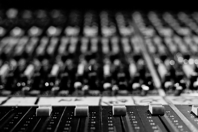 The mixing console at London Bridge Studio.