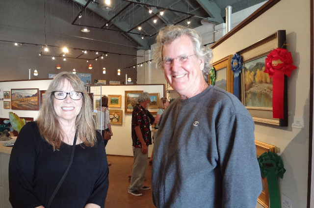 Art Patrons Kathy & Kevin Kelly were early visitors to the Reception on 9-19