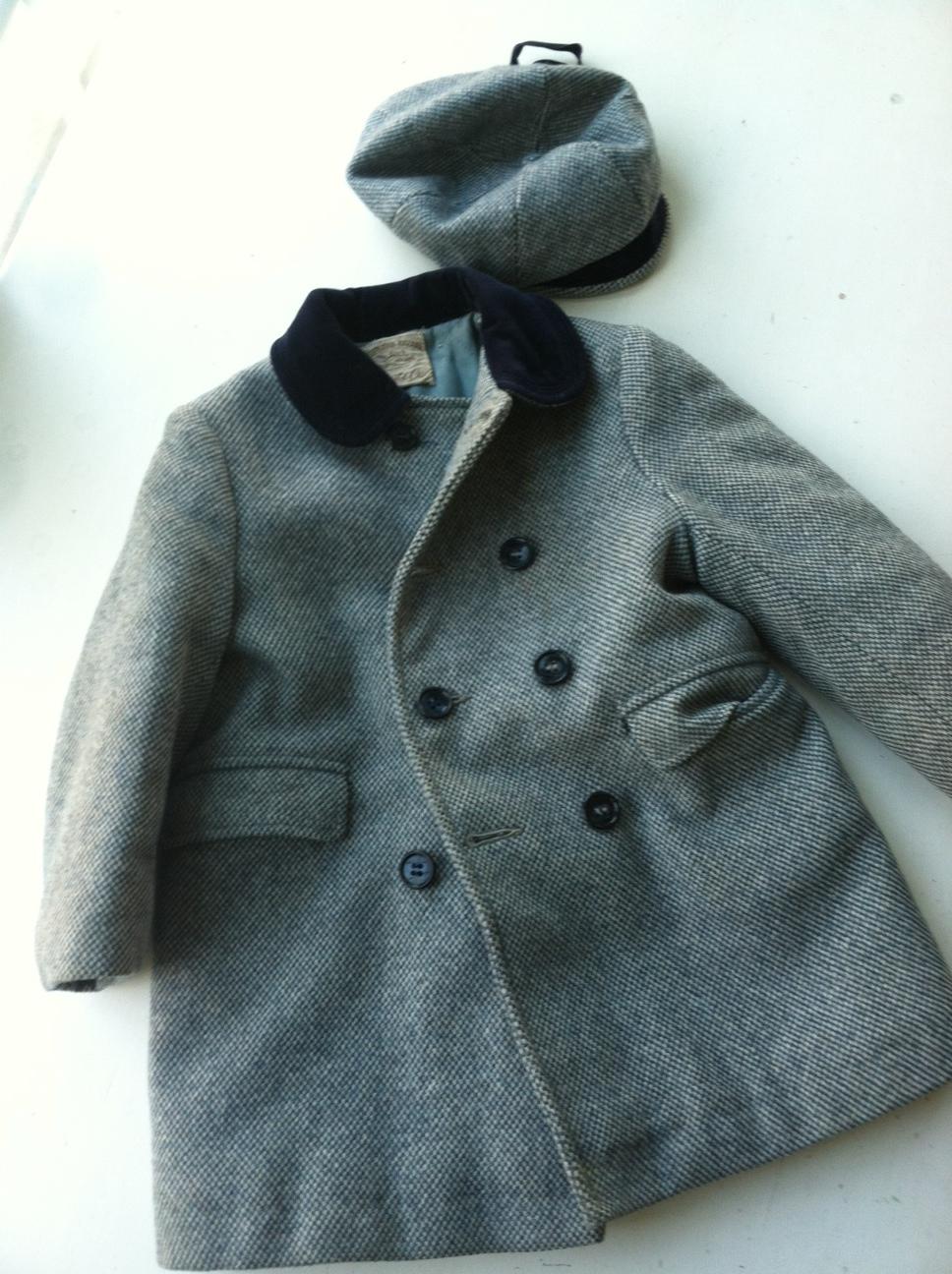 My Uncle Adam's overcoat from olden days.