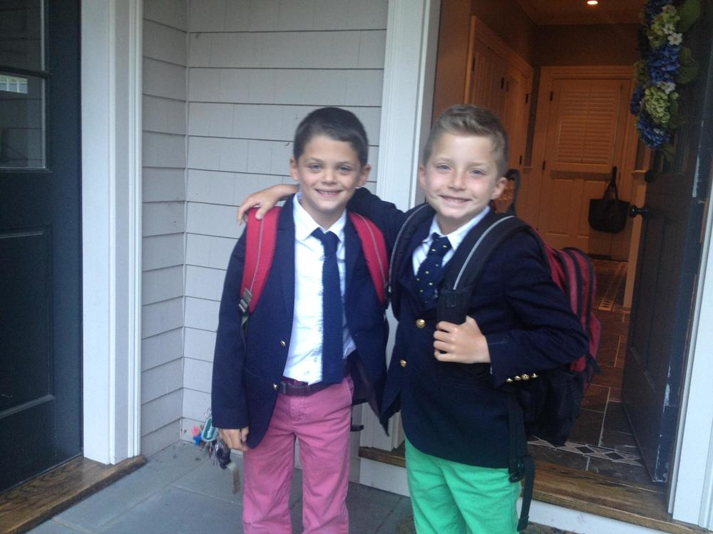 These handsome guys wear our ties to the Fessenden School in West Newton, MA.