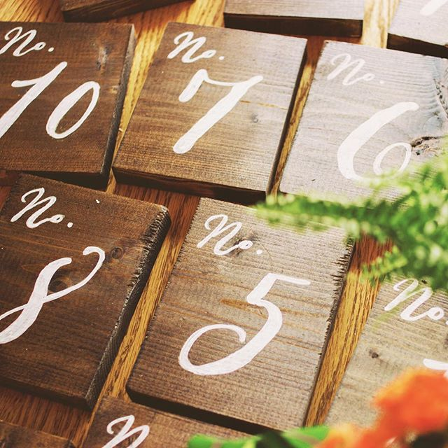 Handpainted table numbers for a wedding this weekend! #sandpiperandco