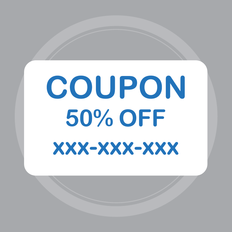 Coupon code will be emailed within 48 business hours of receipt.