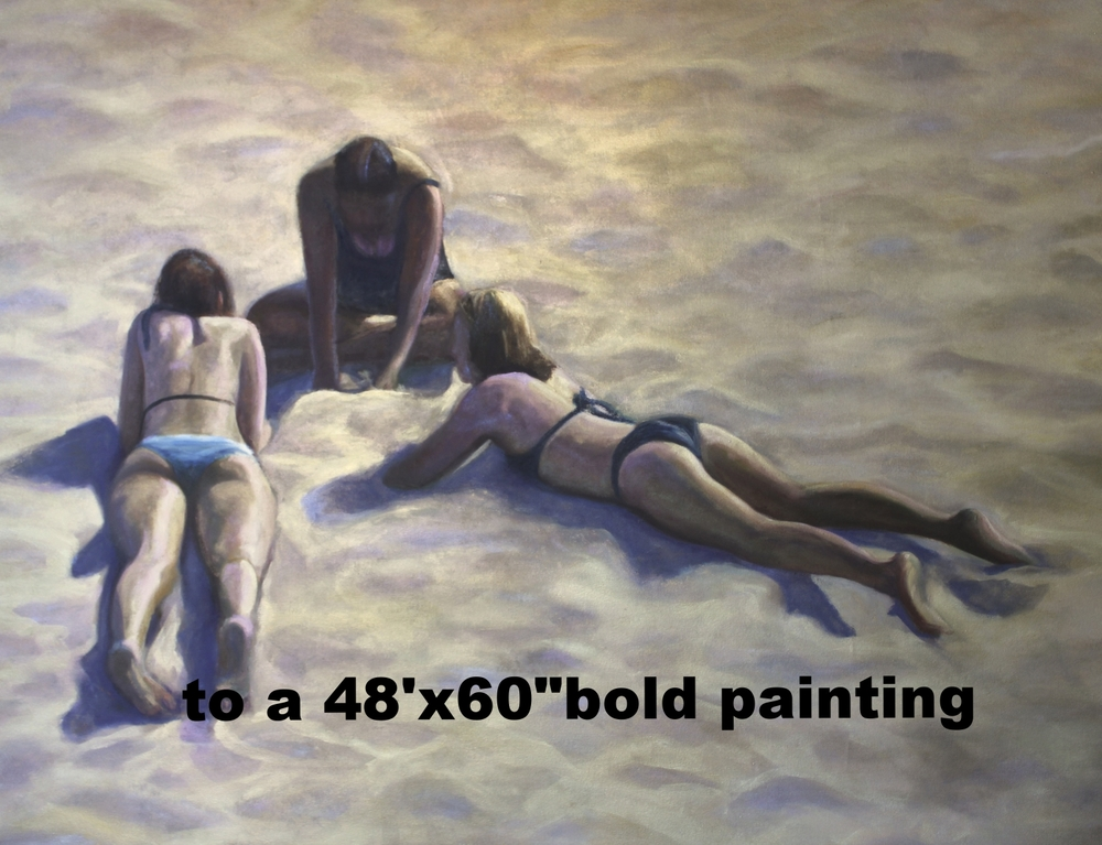 Three Graces on The Hot Sand