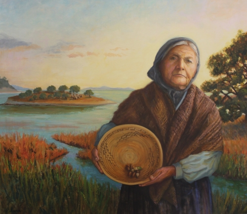 Luisa Ignacia, Chumash Elder - Commissioned Portrait by Marriott HotelsResidence Inn by Marriott, 6350 Hollister Ave. Goleta, cA 93117