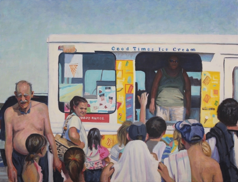 Good Times, oil on canvas by Holli Harmon