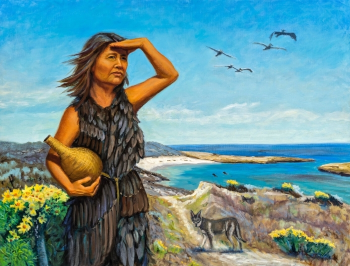 "The Lone Woman - ""Juana Maria"" of the Island of the Blue Dolphins. Now installed at the Santa Barbara Museum of Natural History"