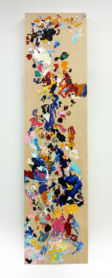 "Dry Painting I,  48"" x 12"""