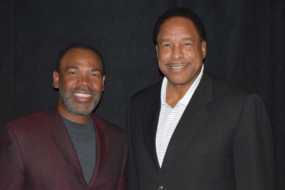 Dave WInfield and Brantheon's Don Gibson at the 2016 Sports Licensing & Tailgate Show