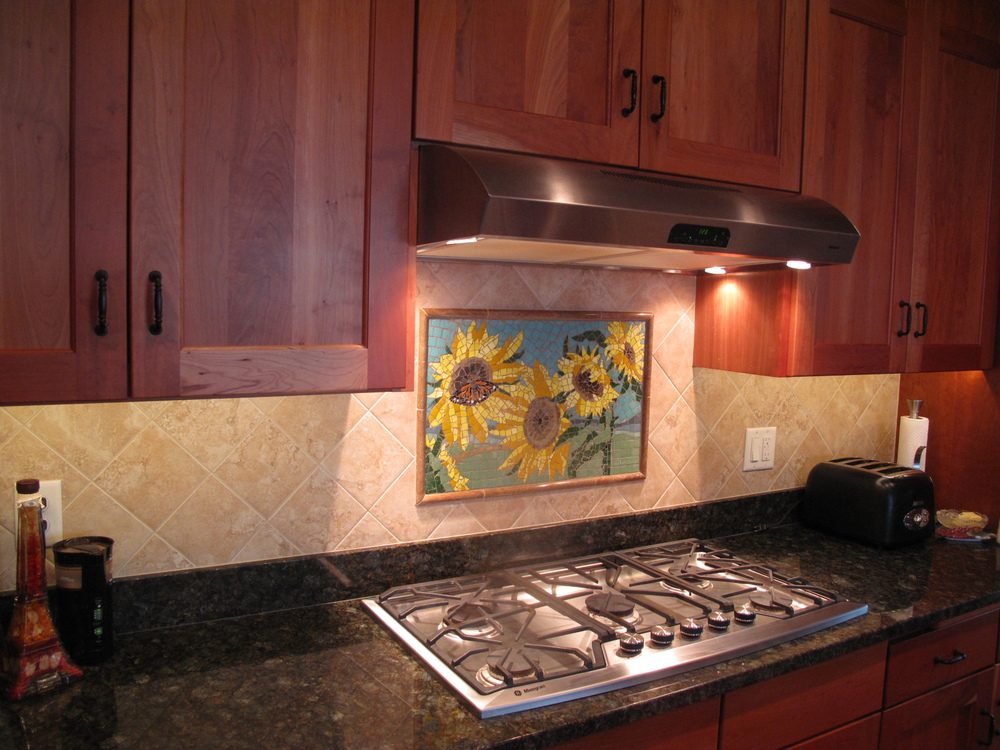 Sunflower Backsplash