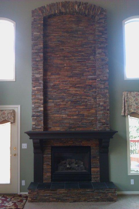 Drystack Slate Fireplace