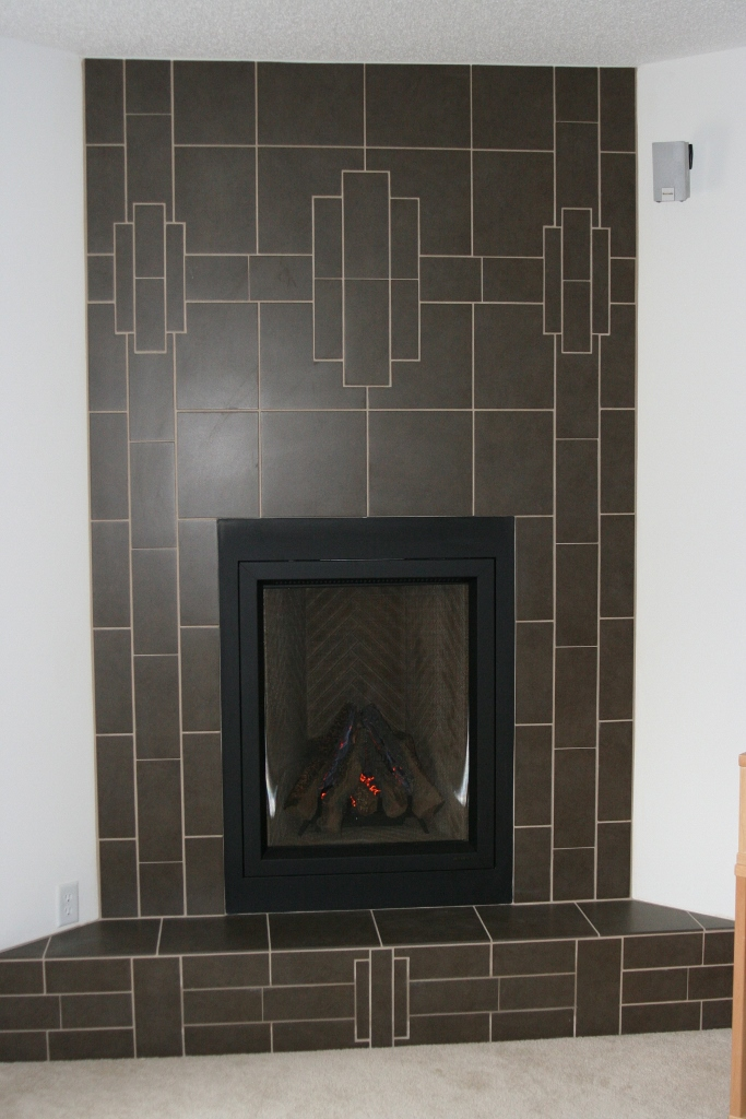 Gray Porcelain Fireplace