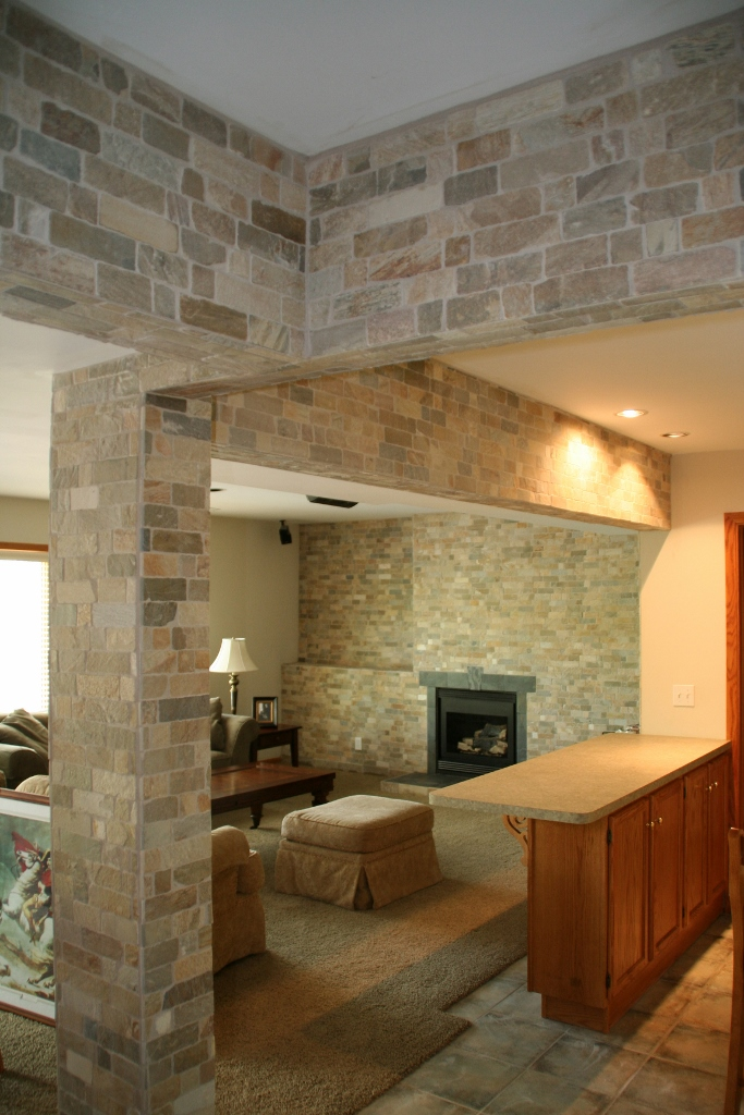 Quartz & Slate Fireplace