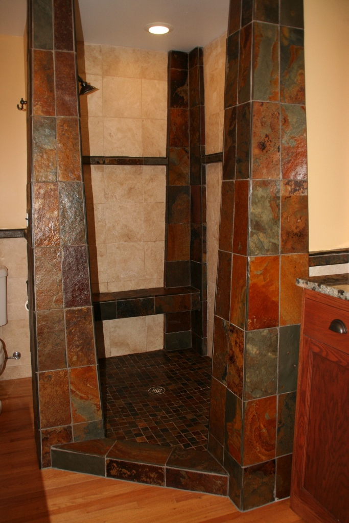 Slate Pillar Shower