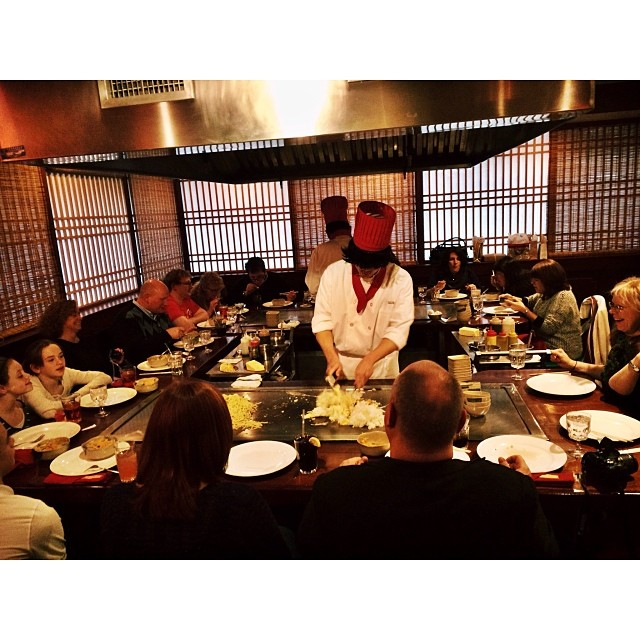 Our hibachi tables are perfect for your family and friends to get together!