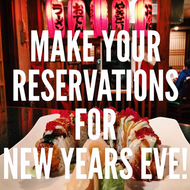 Celebrating the New Years with your family and friends? Call us at 973-335-8818 to make a reservation!