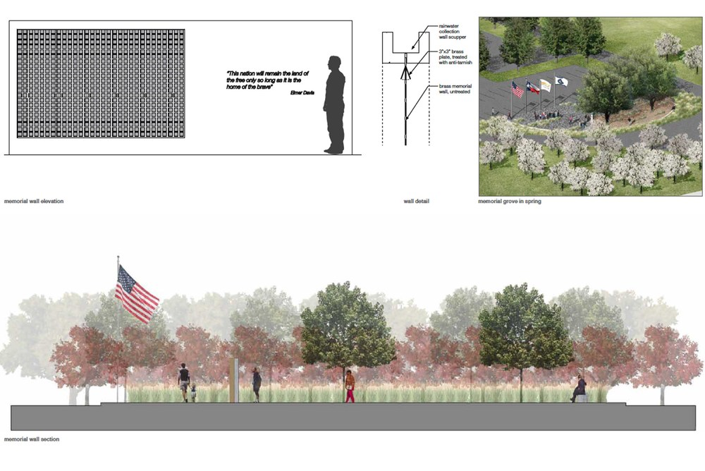 Westshop along with collaborators Nelly + Nicole submitted this proposal for a Veteran's Memorial in East Texas.  This design embodies the elements we at Westshop intend to reveal in each project: the intersection of nature + culture, great detailing and collaboration.