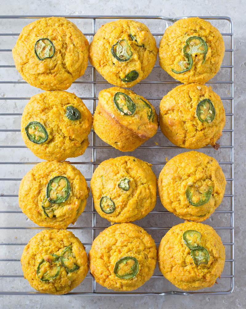 Sweetpotato Jalapeno Corn Muffins