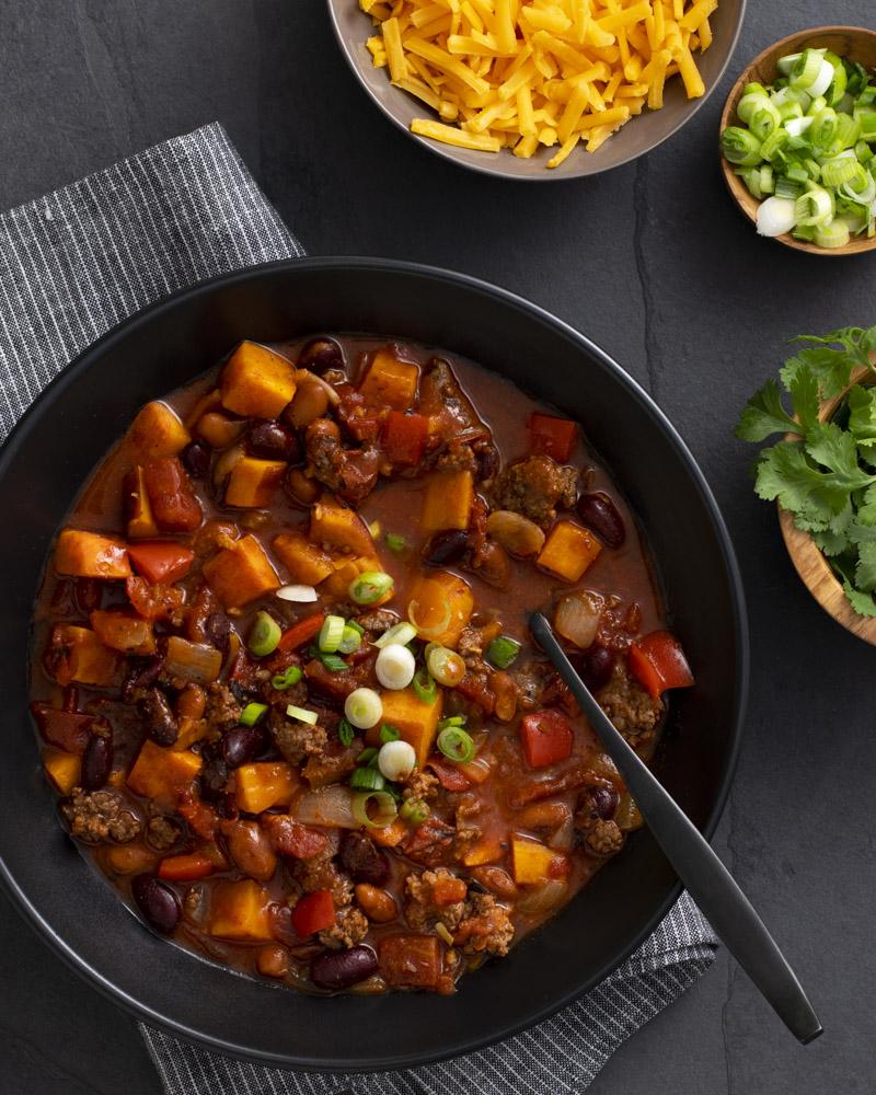 Hearty, Healthy Sweetpotato Chili