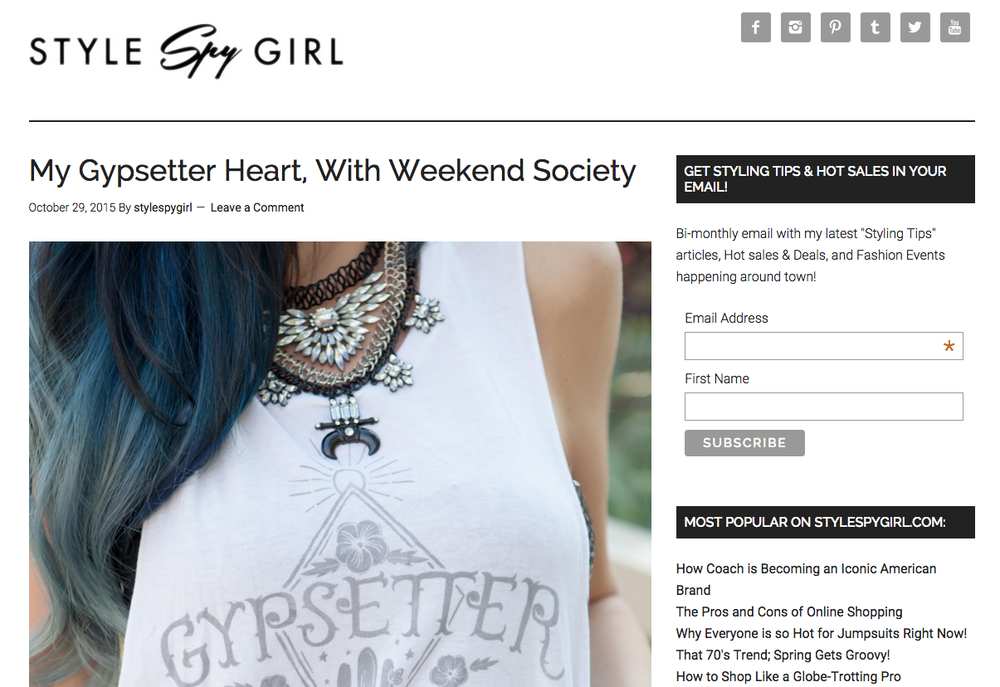 Gypsetter Tank Top- Weekend Society Press