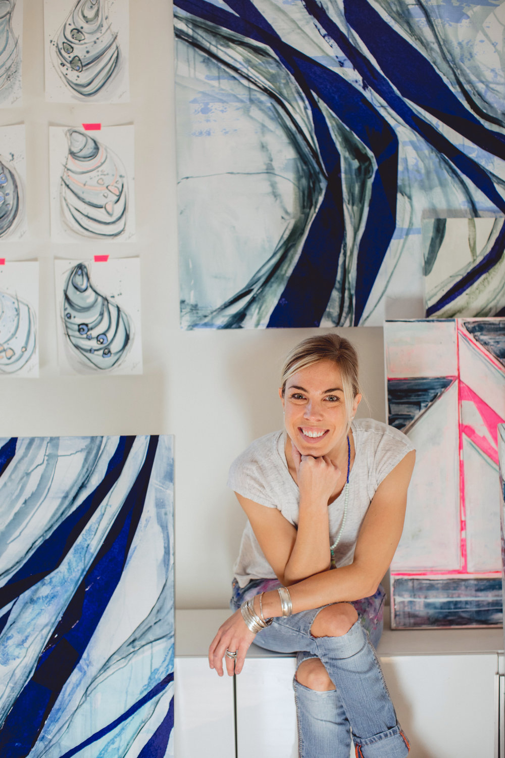 Alyssa Rosenheck's The New Southern Artist Spotlight with Erin Clark, Artist + Painter of Hamilton, MA, Gregg Irby Gallery, Atlanta, GA