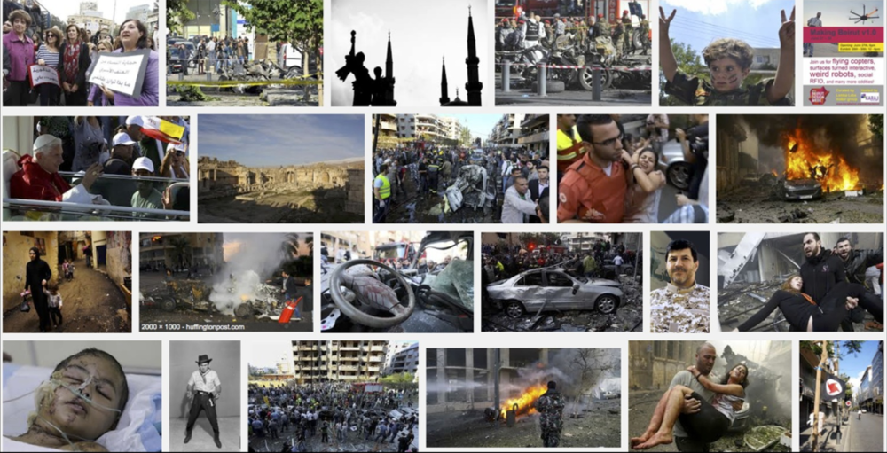 violent media images, beirut, lebanon