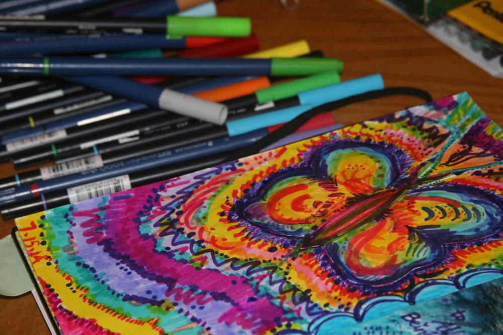 Sarah Love butterfly doodle.JPG