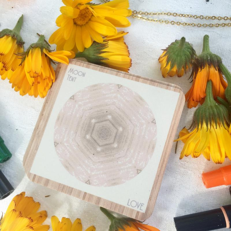 The Love (Moon) card from Stephica Burton's Indigo Corners deck