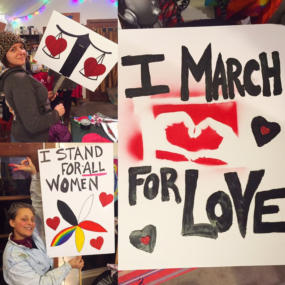 I stand for love womens march