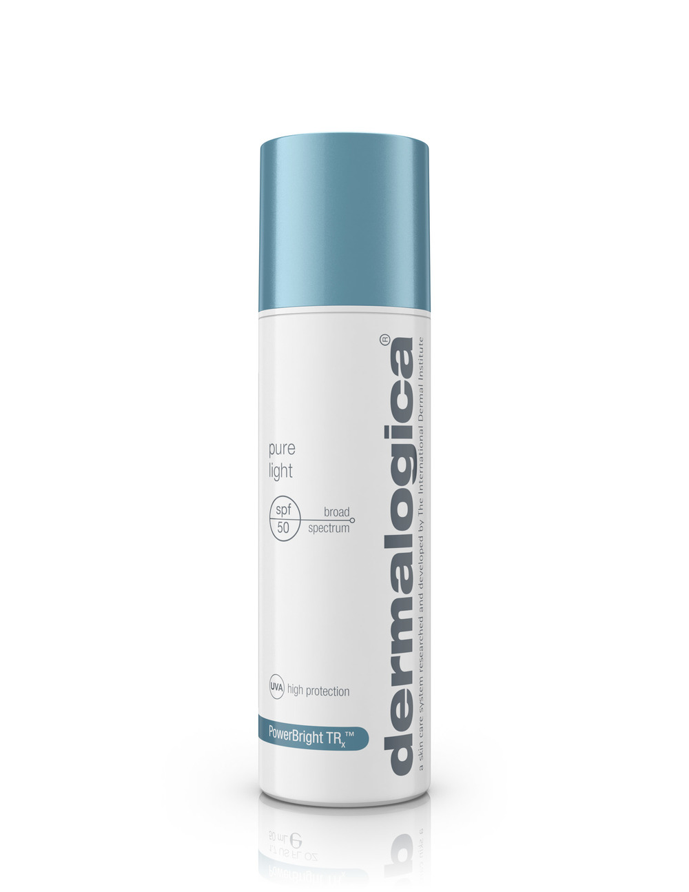 pure light spf50  Shield the skin from UV-induced hyperpigmentation (brown spots, discoloration and uneven skin tone) with this medium-weight daytime treatment. It features Oleosome technology, which uses natural plant spheres filled with sunscreens to increase SPF performance. A powerful peptide helps regulate melanin production while a potent blend of Red and Brown Algae combined with botanical extracts, help balance uneven skin tone. Cross-linked Hyaluronic Acid fortifies the skin's natural moisture barrier, reducing the appearance of fine dehydration lines. Formulated without artificial fragrances, colors or parabens.