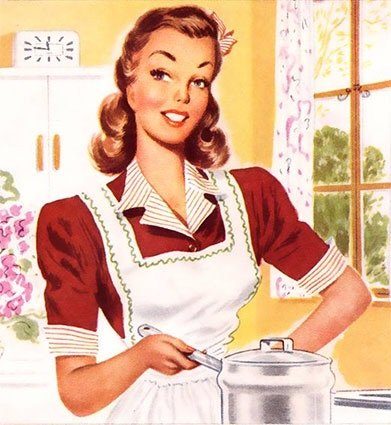 Google search for: 50's housewife - she can do it all, and with half the fat!
