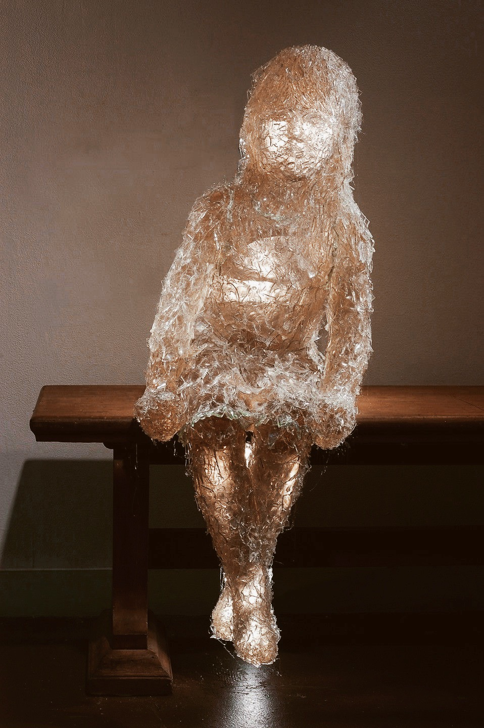 Sculpture by Ana Teresa Fernandez - It sure looks like Miss Navy to me.