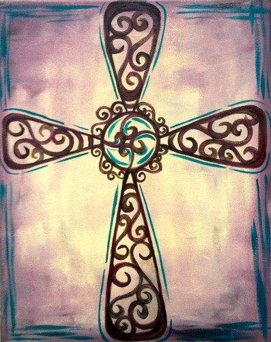 This is a sample of the cross that the group will be painting.