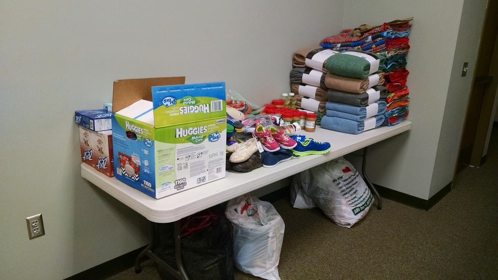 Donations from Sundays Joint Service on July 12.