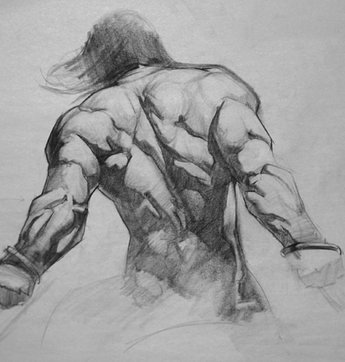 Frazetta figure study