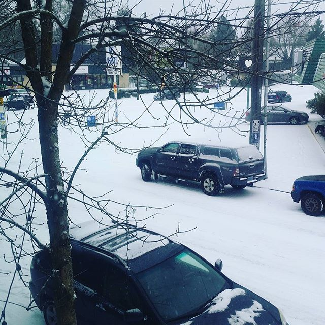 Due to the weather here in Portland-OR,  we will be closed today. #winterwonderland #snowday #drinkingchocolate