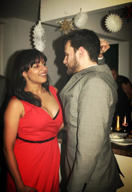 Richie and Vilmarie meet on the dance floor at a Christmas party in 2010.