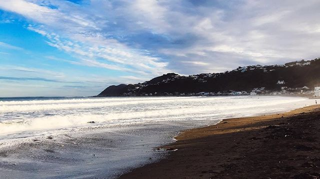 some big swell today didn't leave much beach left for a late afternoon stroll! Always good to sit and watch the waves roll in though. #beach