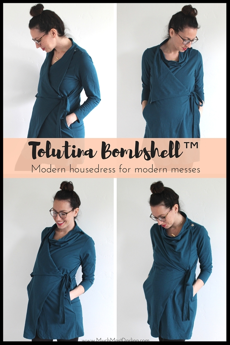 """It's perfect for both maternity wear and postpartum wear, and I can guarantee you my husband would rather see me in this gorgeous blue dress than in my previous grandma worthy muumuu. I would have loved one of these breastfeeding and postpartum friendly dresses as a shower gift, had I known about them then, so they make wonderful baby shower and new baby presents for all the new mamas in your life!"" Shannon at Much Most Darling (pictured above)"