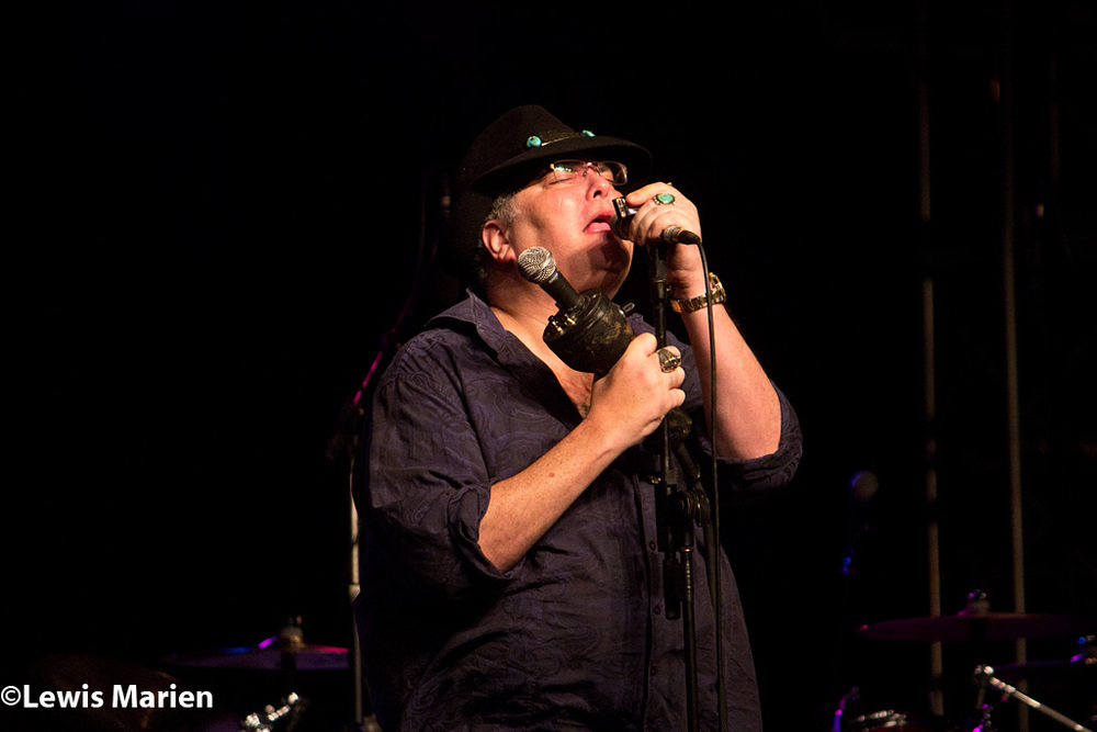 Blues Traveler vocalist and harmonicist John Popper performs at the 2015 Decatur Celebation's Show Stage on Aug. 8 in Decatur, Ill.