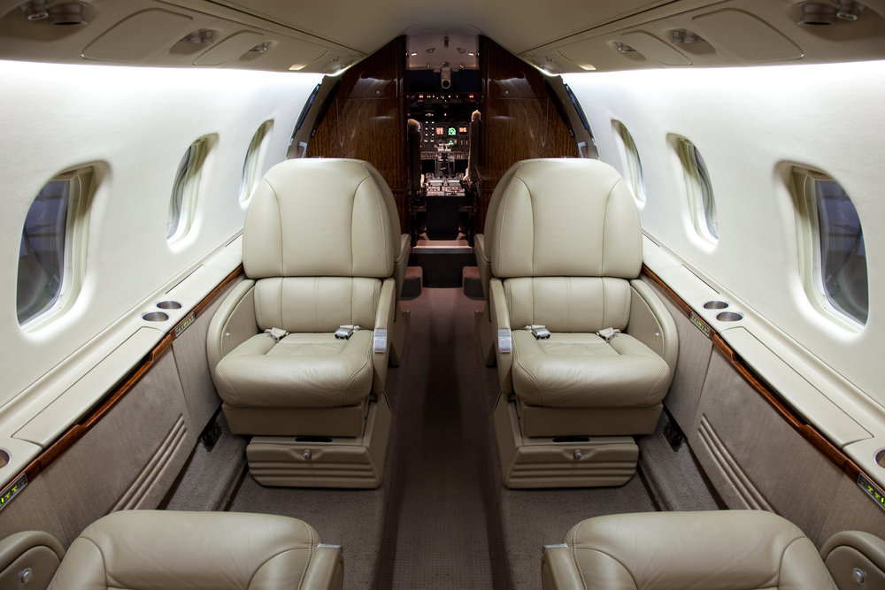 Corporate Jet Interiors - Our work on corporate jet interior modifications includes:- Cabin configuration changes- In-flight entertainment system installations- Avionics upgrades- Mobile phone installations- Audio system upgrades- Galley and toilet installations- Storage cabinets- Passenger tray tables- Interior trim upgrades