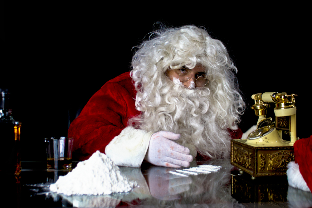 Santa Clause Cocaine Rehab
