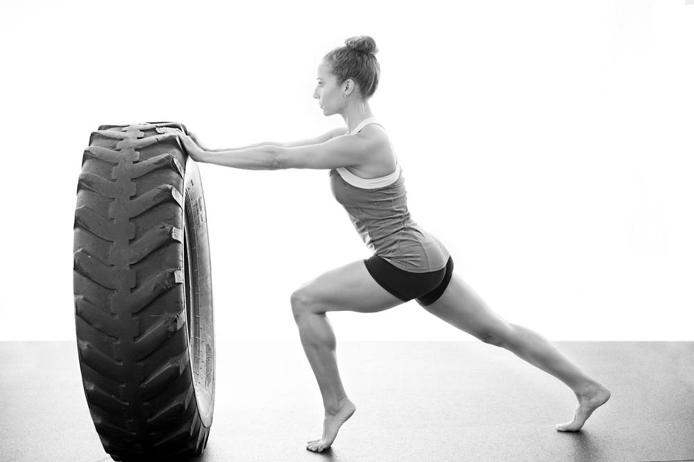Brittney Carbone Tire Flip