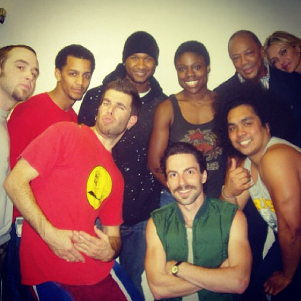 #tbt to the time Usher, Quincy Jones, and the cast of STOMP hung out with my mustache.