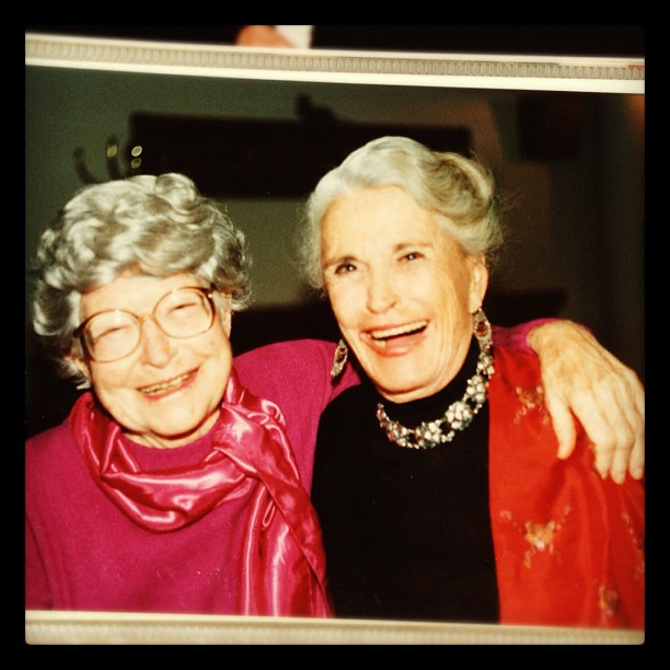 Grandmothers, Marg Crawford and Irma Lazarus. Boston, MA 1987