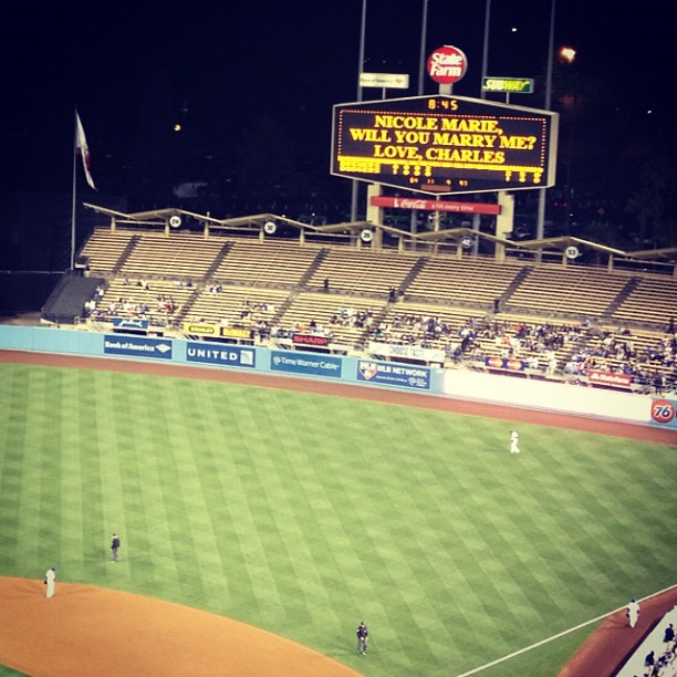 Will you marry me? (Taken with  Instagram  at Dodger Stadium)